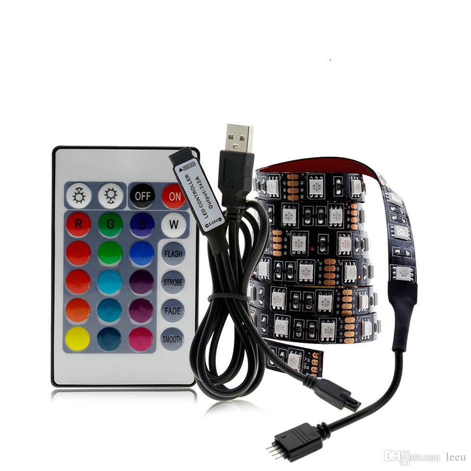 LED USB bande 5050 arrière-plan LED RGB changeable TV éclairage 50CM 1M 2M 3M 4M 5M DIY LED flexible lumière