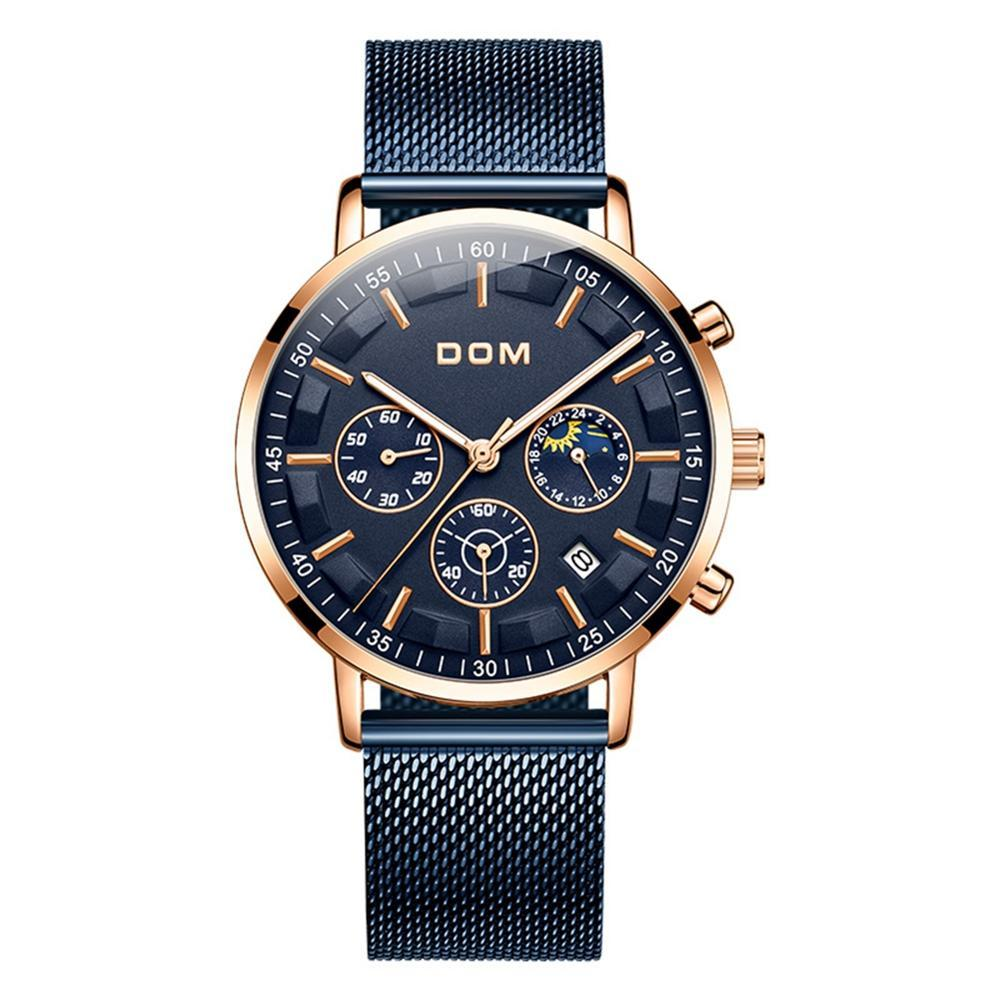 RELOJES 2018 Montre Homme DOM Mode Sport Quartz Horloge Montres Hommes Top Brand Luxury Business montre étanche Relogio Masculino