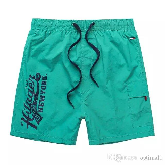 Moda nuova top gratuito Marca uomo Shorts spiaggia di shorts corti Pantaloni Uomo Shorts Pantaloni Costumi da bagno Bermuda Maschio Lettera Surf Life Men