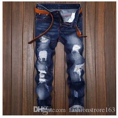 Compre Jeans Para Hombre Jeans De Motociclista Talla 28 42 Rock Revival Skinny Slim Ripped Popular Hip Hop Mendigo Agujero Pantalones De Mezclilla Hombres Jeans De Disenador 009 A 30 09 Del Fashionstrore163 Dhgate Com