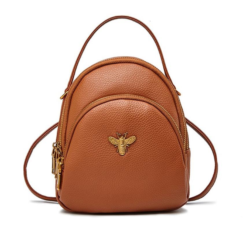 Design di lusso Mini zainetti sacchetti delle signore spalla sveglia del cuoio PU Piccolo donne zaino Bee Scuola Borsa in pelle di alta qualità Notizie 2