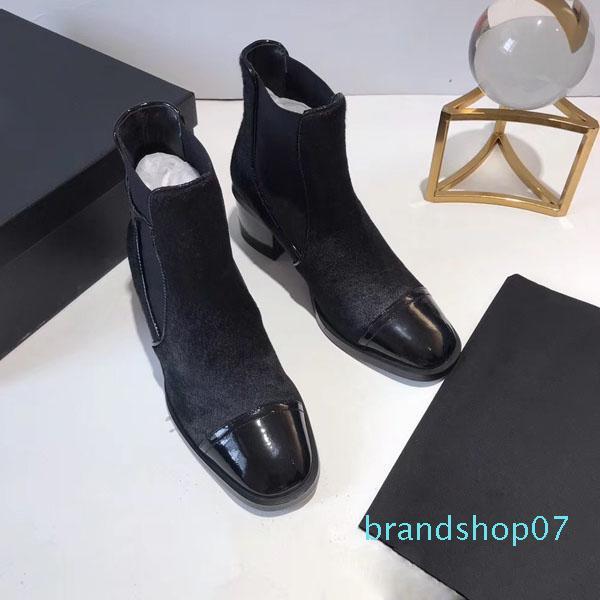 botas Sale-designer quente das mulheres de Moda de Nova Rebanho Plataforma Salto Alto Mulheres Outono Inverno calçados casuais Tornozelo Botas Us5-10