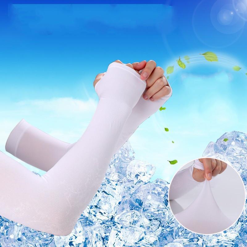 Tela de hielo mangas del brazo de verano de seda del hielo unisex manga Montar Deportes Protección UV Running Ciclismo Conducción de hielo mangas