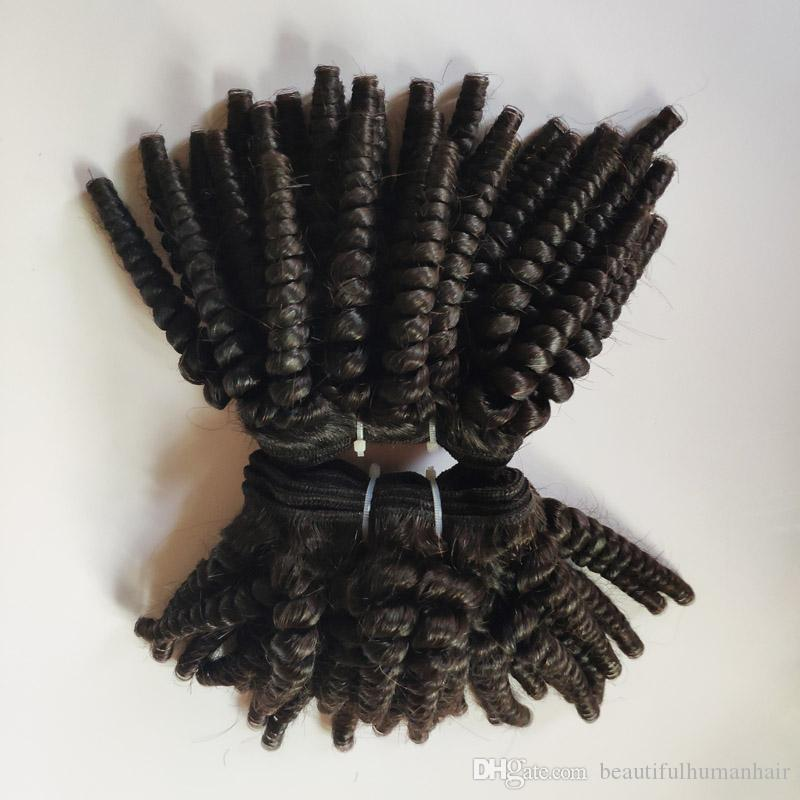 Afro verworren Kurzhaarschnitt 8-12inch brasilianische peruanische Europäische Virgin Menschenhaars Schöne indische remy Haarverlängerung auf Lager