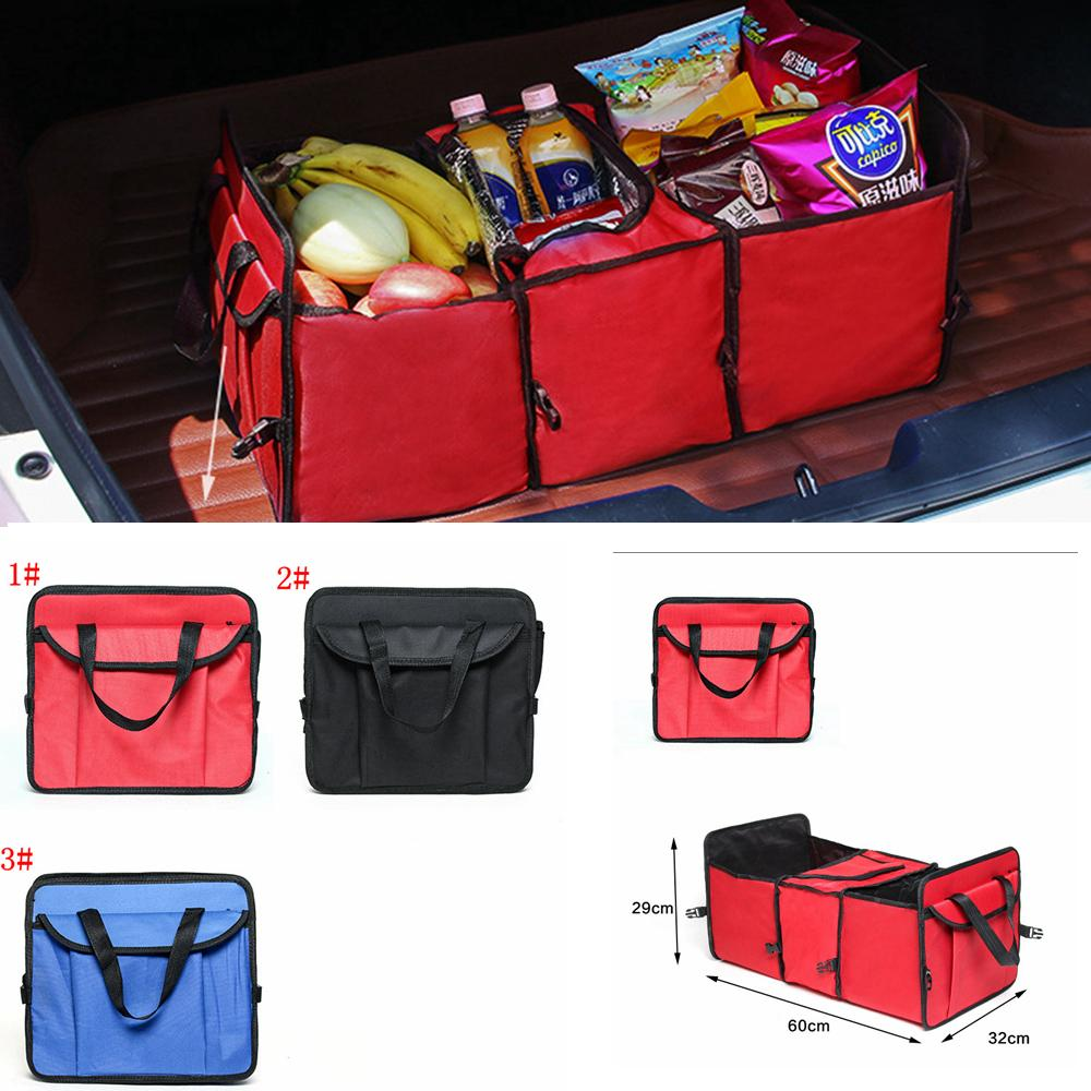3styles Foldable Vehicle Storage Bag Car Truck Organizer Basket toy sundries Container With Cooler And Insulation Car Organizer FFA2176