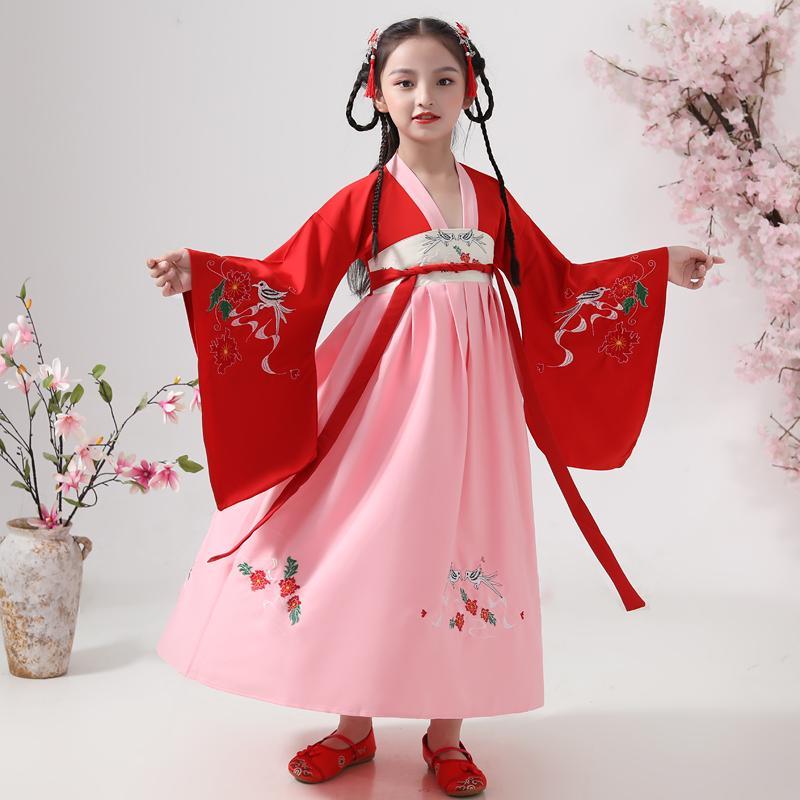 Antica Fata intrattenimento musiche e canzoni per ragazze Cinese tradizionale costume di danza Donna Dinastia Qing principessa prestazione del vestito bambini DN4921