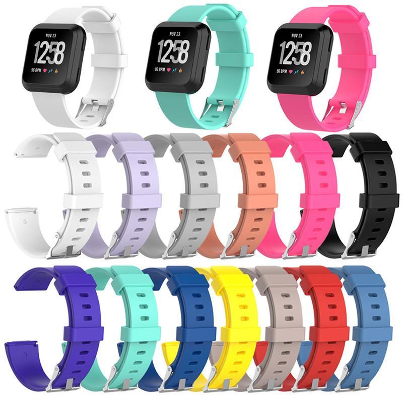 Nueva llegada para el Fitbit Versa pulsera de la correa de muñeca inteligente venda de reloj de la correa suave correa de reemplazo SmartWatch Band