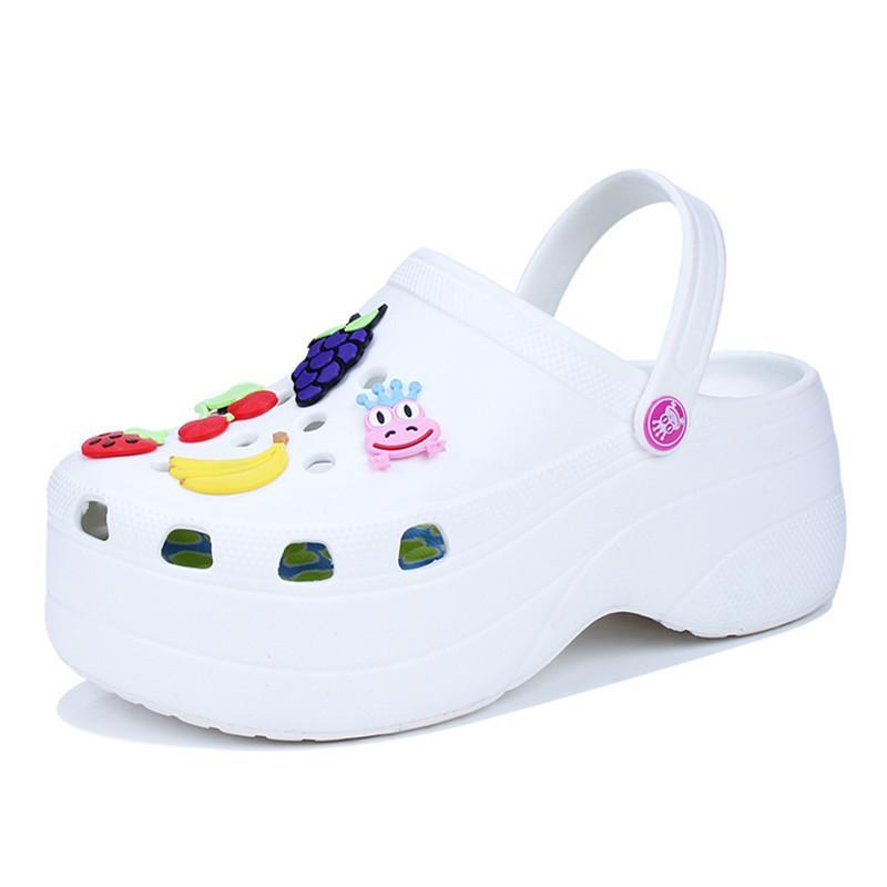 ADBOOV милые сандалии женщин увеличить высоту 6 см платформа сандалии сабо мулы обувь женщины тапочки сандалии Femme 2018 нуво