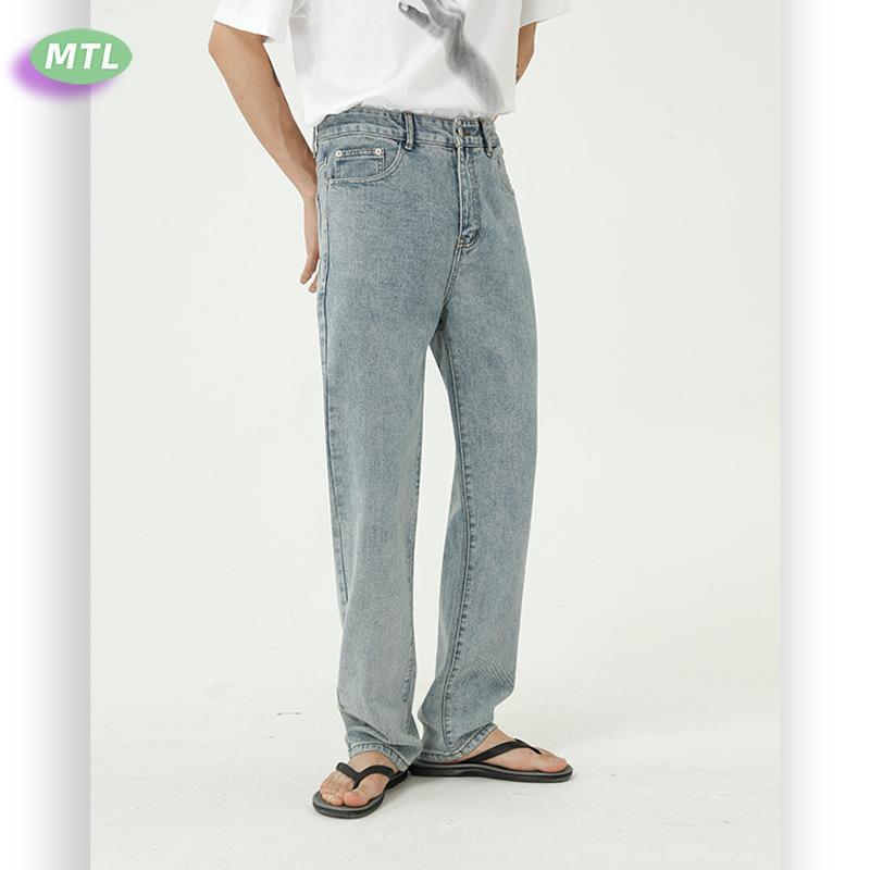 Vêtements pour hommes MTL   2020 été bleu jeans nouveaux contrat de base hommes cultivons pantalon moralité