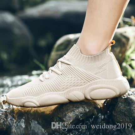 Calzature estive traspiranti da uomo in maglia intrecciata scarpe in mesh versione coreana di scarpe sportive sportive antiodore tomaia in mesh versatile 2019