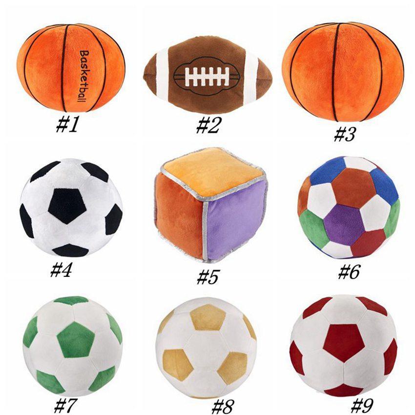 Imitazione di calcio basket giocattolo bambini giocattoli ambito creativo del fumetto cuscino sferica bambole di peluche bambino per il ragazzo regalo della novità ZZA1393-9