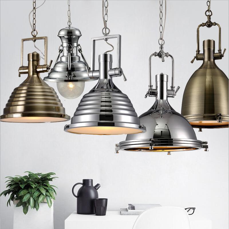 3 style Loft retro Industrial hanging Hardware metals pendant lamp vintage E27 LED lights For Kitchen bar coffee light fixtures