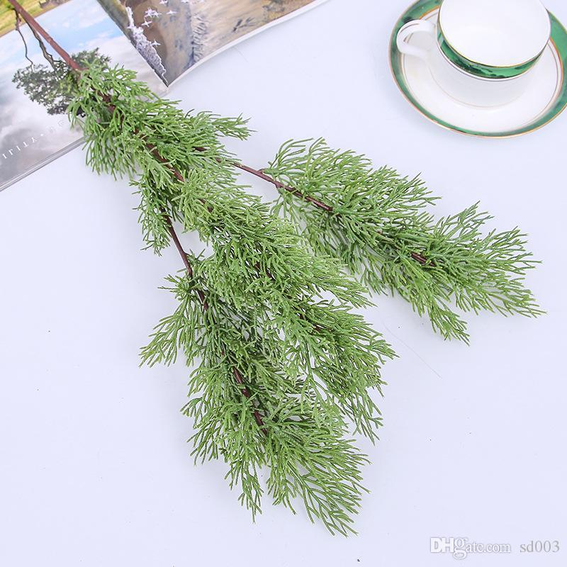 인공 소나무 사이프러스 플라스틱 상록 가짜 식물 크리스마스 웨딩 홈 오피스 가구 장식 Bardian 6 2hq F1