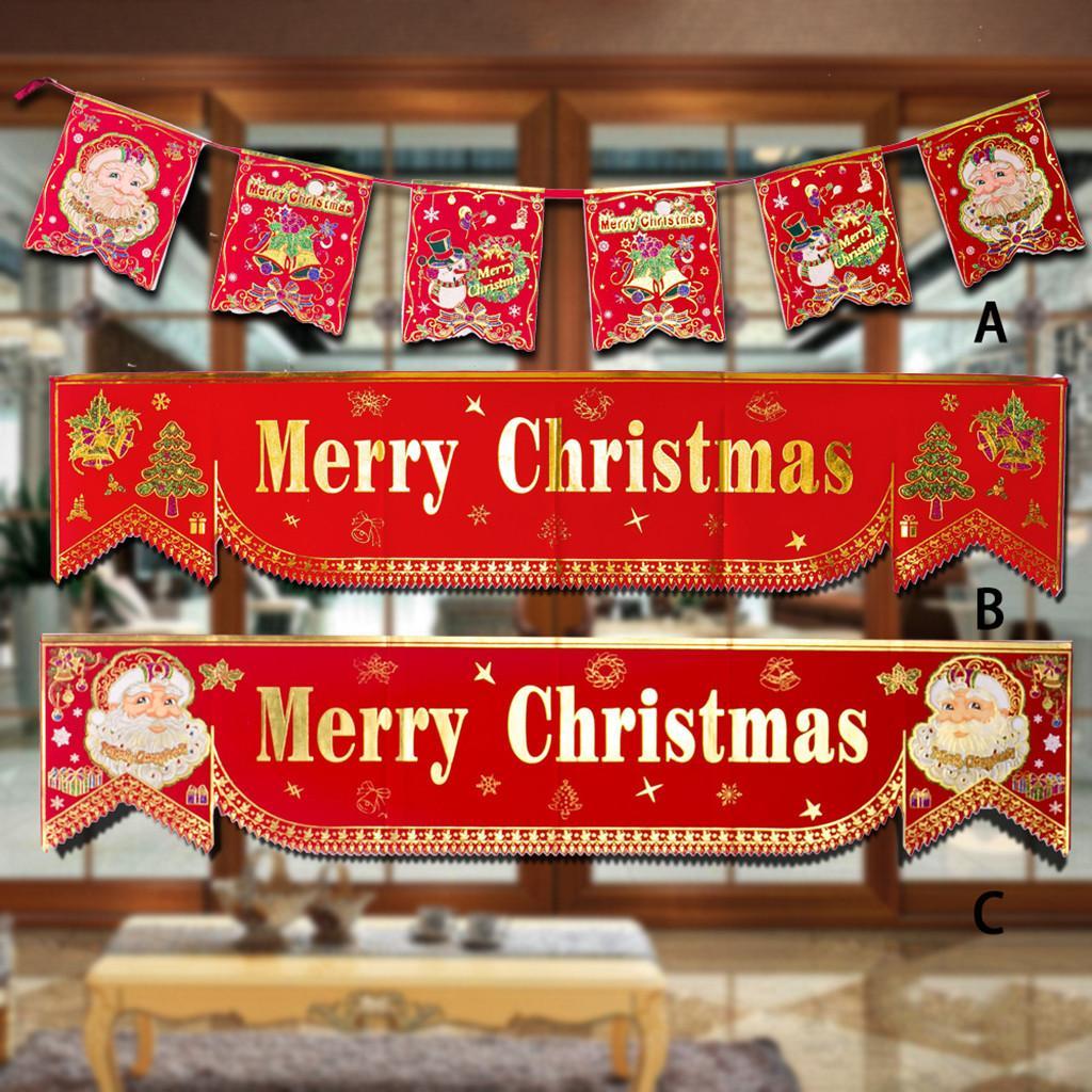 Weihnachten Banner 2019New Weihnachtsdekoration Stoff Shopping Mall Restaurant Dekoration Banner Home