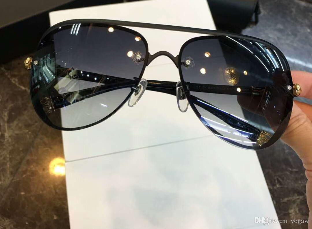 Männer Metallrahmen Schwarz Pilot Run Graue Tönungen Neue Wege Sonnenbrille Brille Rahmen Herren Sonnenbrille Kasten Shades Mode mit XDJGQ