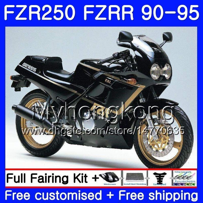 FZRR черный горячий полный Для YAMAHA FZR-250 FZR 250R FZR250 90 91 92 93 94 95 250HM.20 FZR 250 FZR250R 1990 1991 1992 1993 1994 1995 Комплект обтекателя