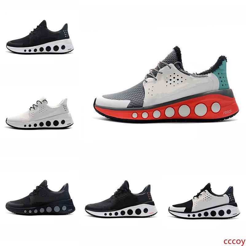 Мода реагирует CRUZRMAX Элемент дизайнер черной синих кроссовок женщин Мужского Chaussures Homme Plus обувь Zapatos кроссовки Кроссовки