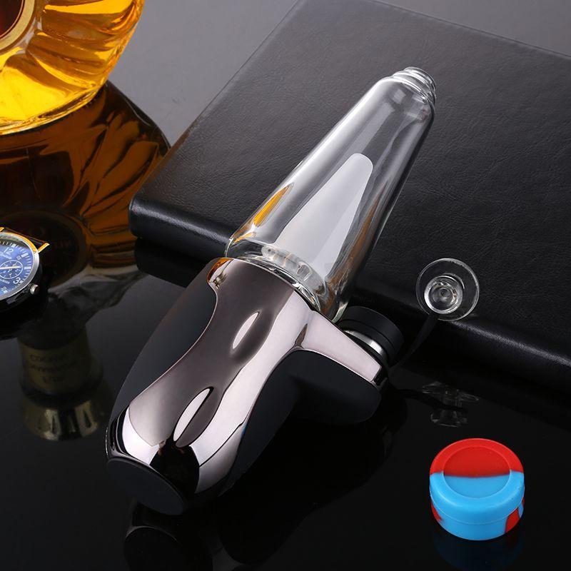 2020 E-cigarrillo original 1500mAh USB Carga de gran capacidad 4 engranajes Tubos de fumar de vidrio con control de temperatura Bongs de vidrio electrónico