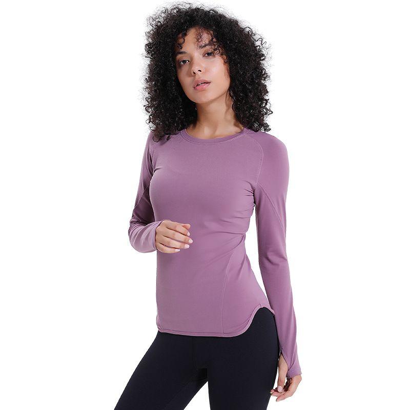 Manga larga camisetas de las mujeres de la yoga de reproducción Gimnasio compresión Medias Ropa de deporte aptitud de secado rápido Tops talladora del cuerpo Tee Shirts