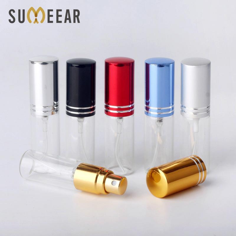 Aerosol 100pcs / Lote 5 ml portátiles vacías neceser de viaje perfume de la botella para la muestra regalo mini botella Parfum Containrs Maquillaje
