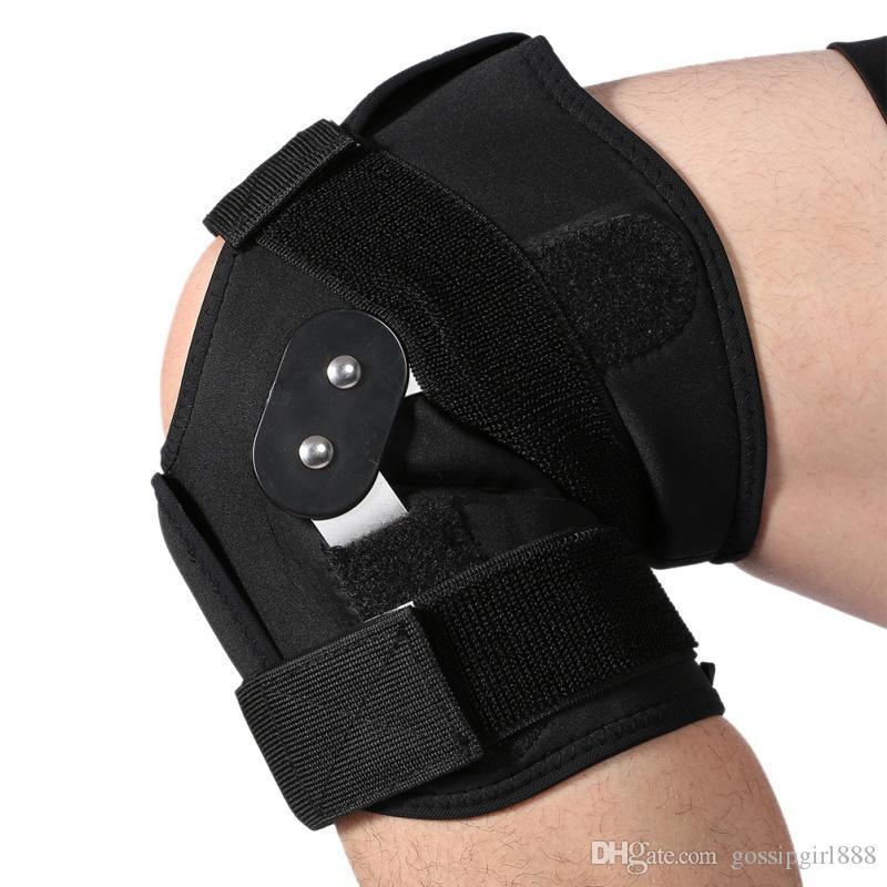 1 pezzo di rinforzo per esterno Supporto per ginocchiera regolabile Supporto per supporto per protesi Supporto per ginocchio tibia Supporto per compressione delle gambe Cuscinetti per ginocchio