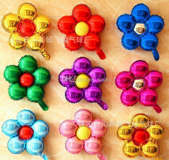 Главная 50 см пять цветов алюминиевая фольга воздушные шары прекрасные игрушки свадебные сувениры и подарки детские украшения на день рождения воздушные шары