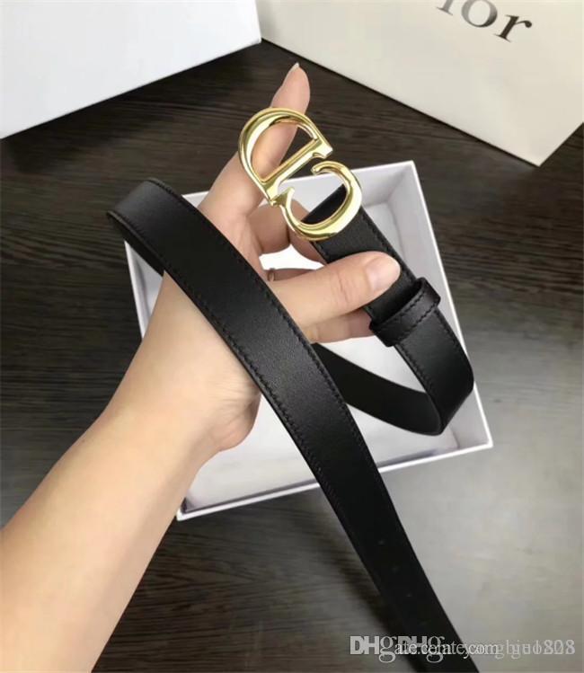 La spécification de la ceinture de mode féminine de style Lettre: 2,5 bouton longueur 95-125 or tête