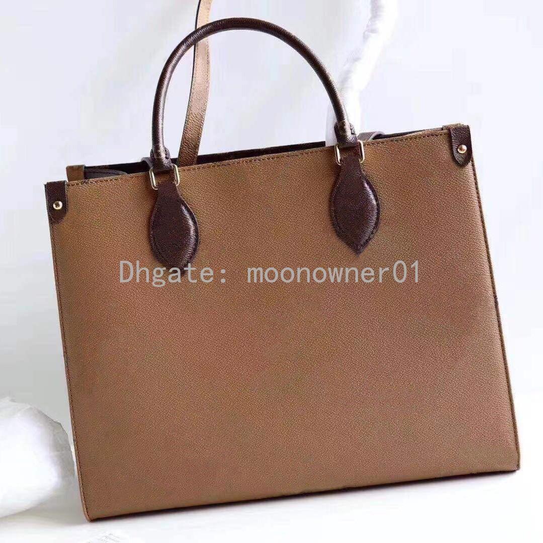 Toptan Orignal tasarımcı alışveriş çantası deri omuz çantası bayan Bez kadınlar çanta messenge onthego için presbiyopik alışveriş torbasını handbags