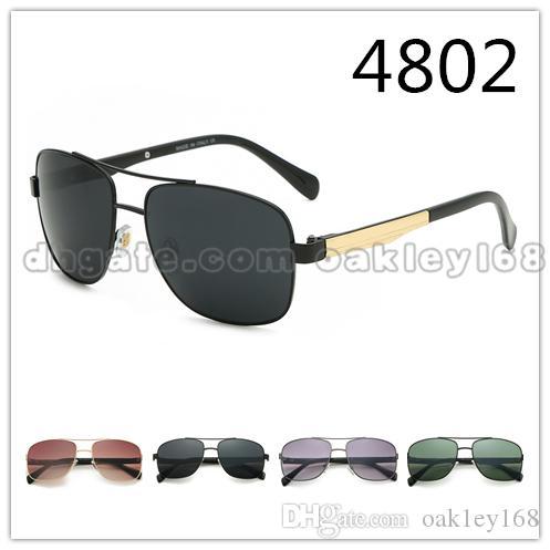 Brand Designer Sunglasses 4802 Fashion Men And Women Classic Retro Metal Square Sunglasses Vintage Sun Glasses Eyewear