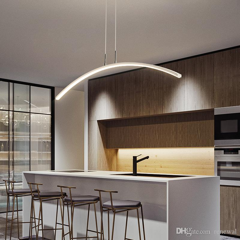 Luces colgantes LED Lámparas colgantes de atenuación para comedor de cocina Suspensión Luminaria Nueva Llegada Moderna Cord Colgando Lámpara