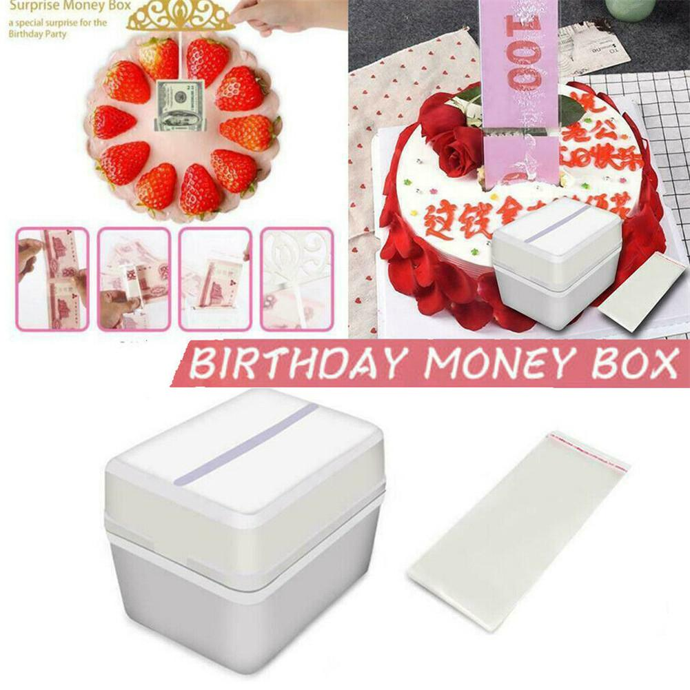 Funny Cake Pulling Money Box Props Making Surprise for Birthday Cake Party
