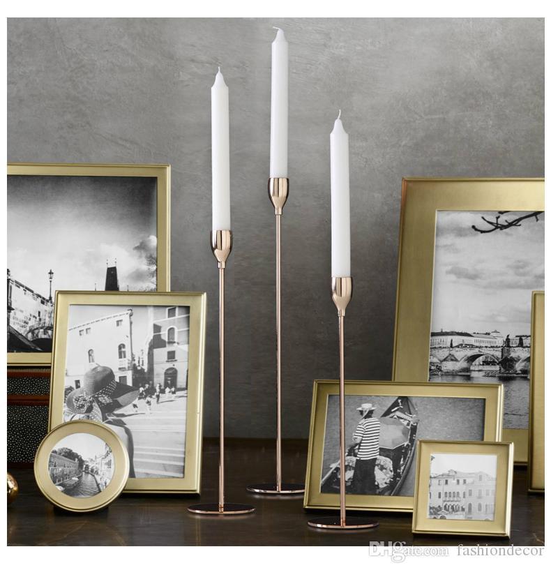 Candelabros de metal dorados, adorno para candelas, candelabro, decoración navideña de la fiesta de bodas, envío gratis