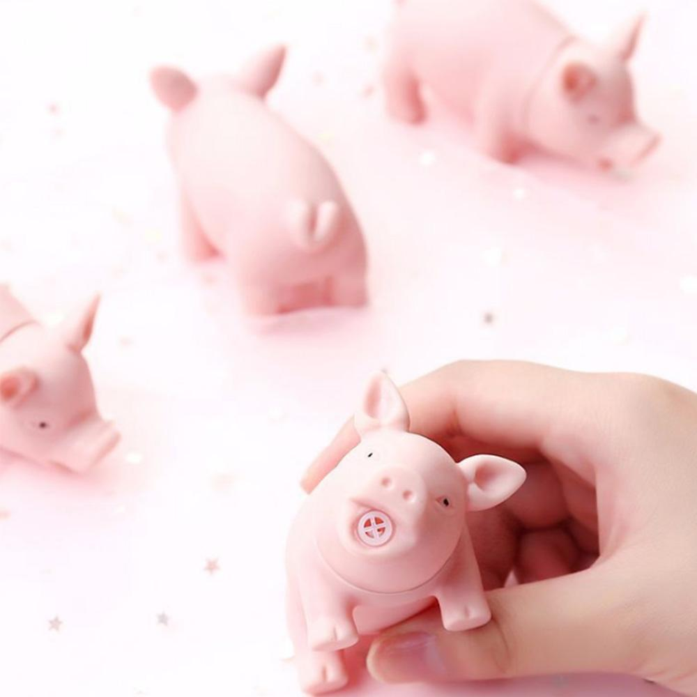 Funny Cartoon Pig Animal Tricky Toys Reduced Pressure Sound Play Pig Squeaker Squeaky Toy Lovely Mini Kid Novelty Toys Gift