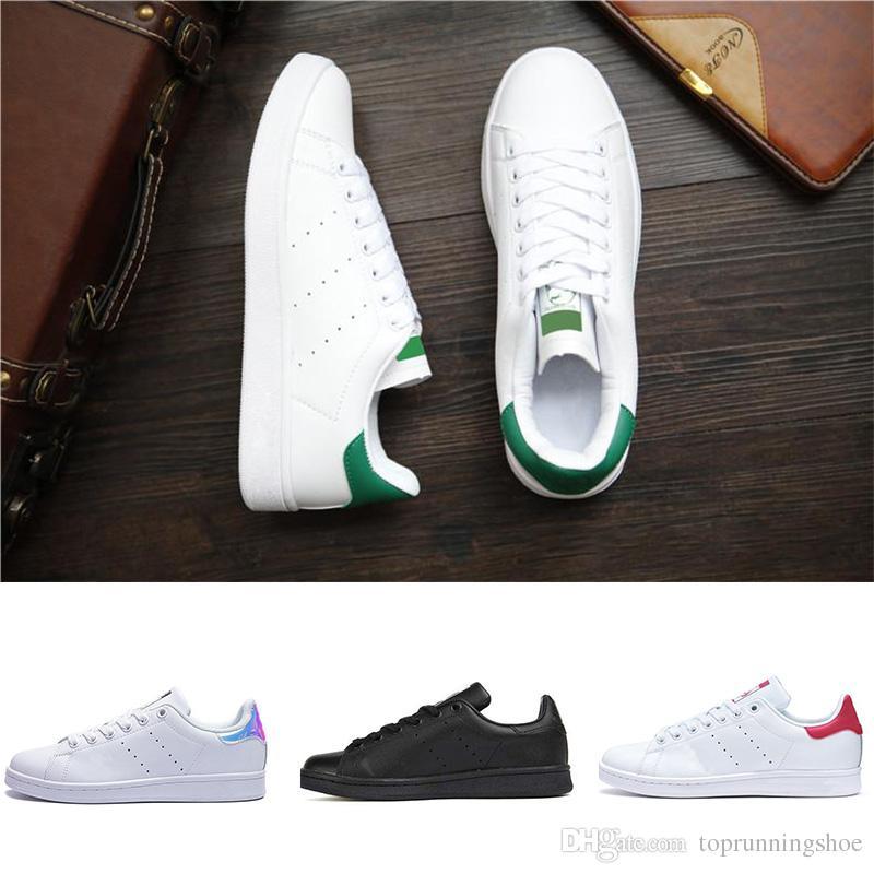 2018 smith stan En kaliteli klasik daire kadınlar erkekler ayakkabı moda ayakkabı Casual ayakkabılar deri spor 2019 Boyut 36-44