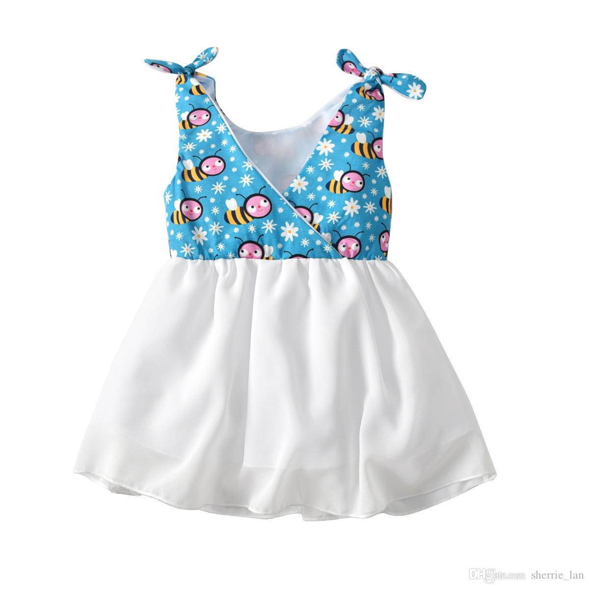 Latest Infant Baby Toddler Children's wear Good quality Casual cotton linen summer baby girl dresses style baby Blue frock designs