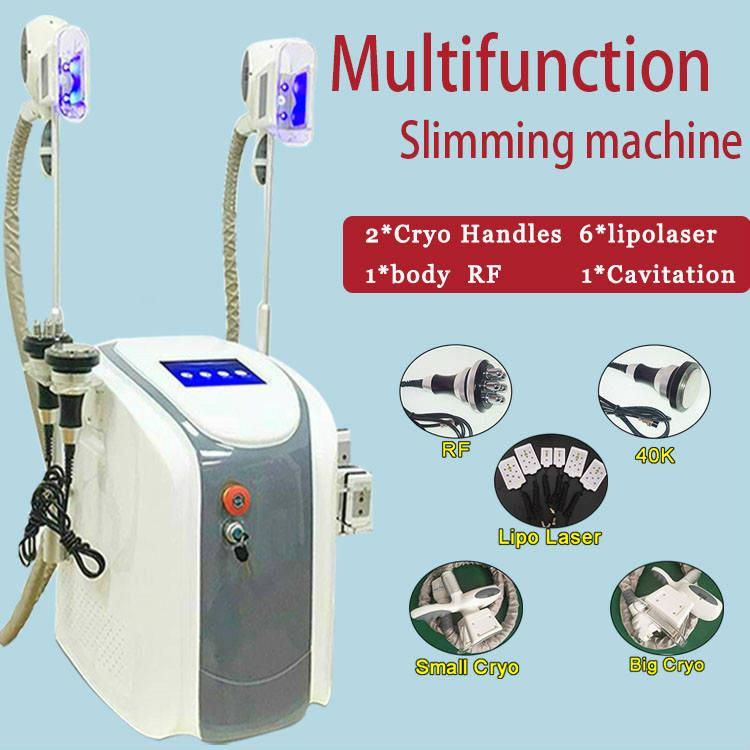 Radio Frequency Fat Freezing Machine Fat Freeze Handle Slimming Machine Vacuum Ultrasonic Cavitation RF Cellulite Removal Slimming System