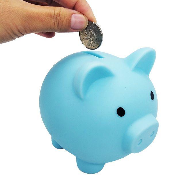 Cute Pig Cartoon Piggy Coin Box Plastic