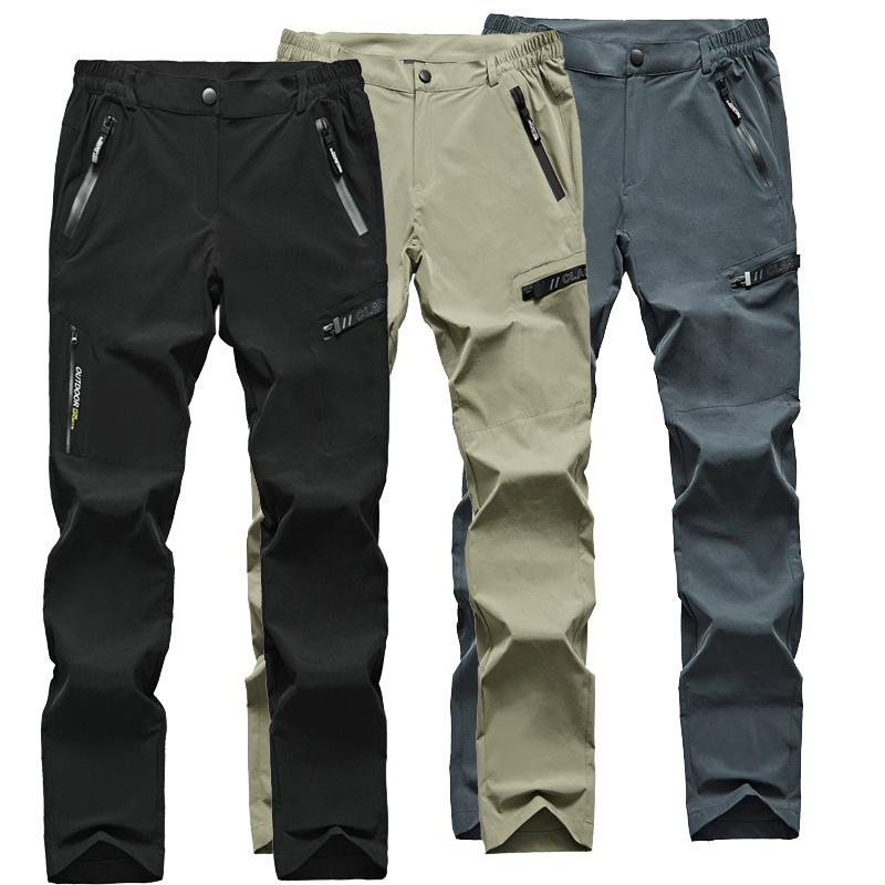 UK Men Quick Dry Trousers Tactical Waterproof Cargo Hiking Climbing Combat Pants