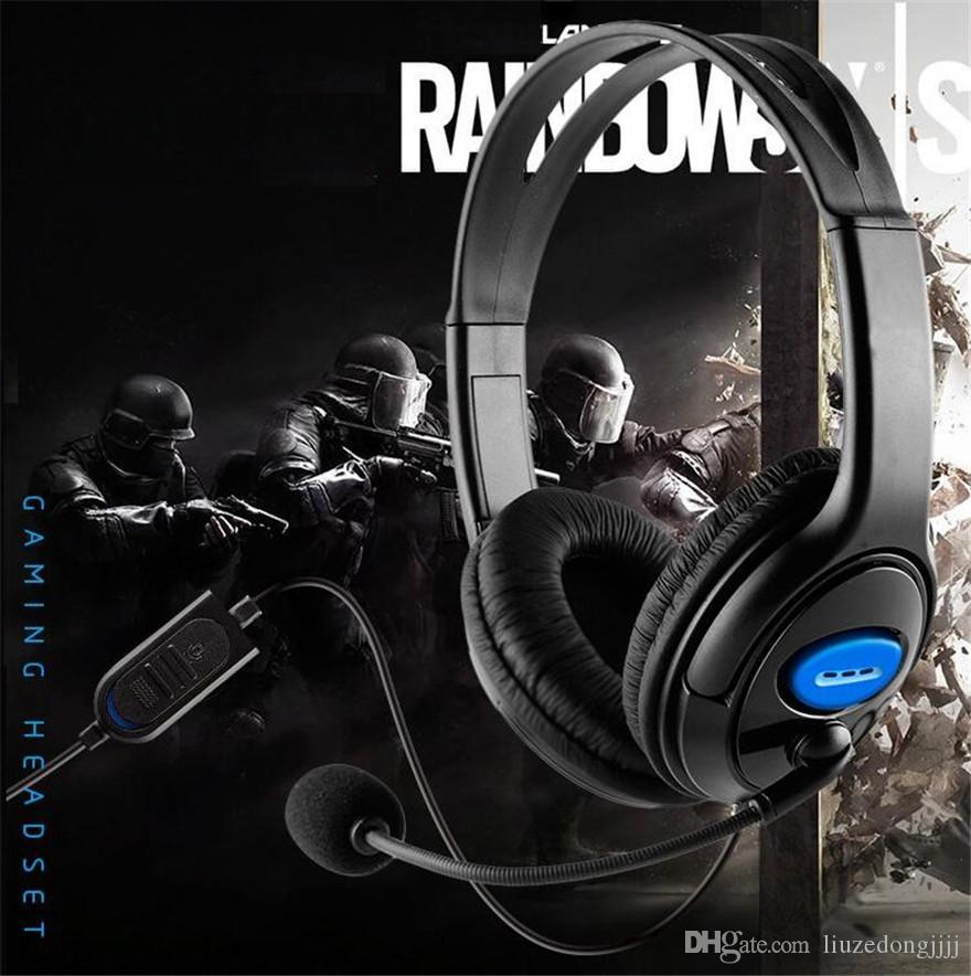 Auscultadores jogo Wired Gaming Headset Fones de ouvido com microfone Mic Stereo Ceia Baixo Para Sony PS4 PlayStation 4 jogadores Xbox ONE