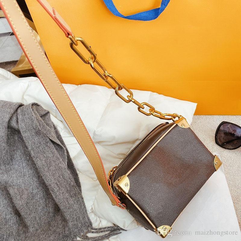 progettista della borsa della borsa di lusso L fiore donne Trunck progettista borse delle signore di borsa crossbody tracolla a catena borsa morbida