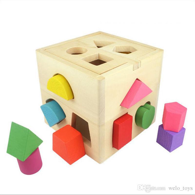 13 홀 정보 상자 빌딩 블록 모양 일치 완구 유아 교육 학습 벽돌 완구 Xmas 선물