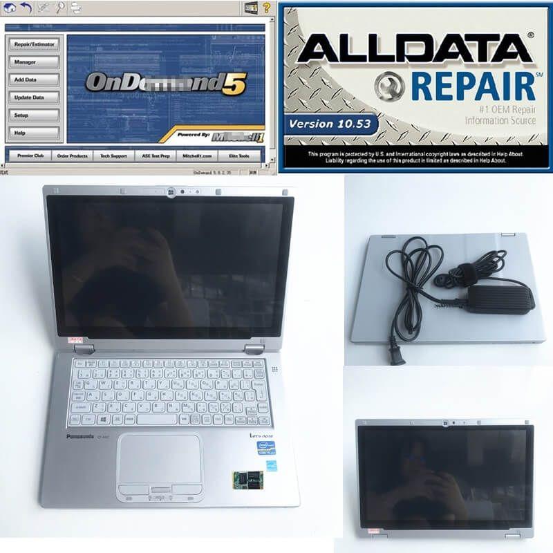 alldata 10.53 and Mit 5.8 installed well in CF-AX2 super laptop i5 8G 1TB mini SSD car repair soft-ware full set