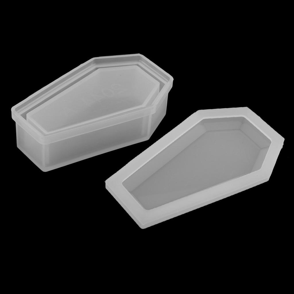 Molde de silicona, en forma de ataúd, joyería caja, caja de almacenaje, caja de regalo 14x7.5cm