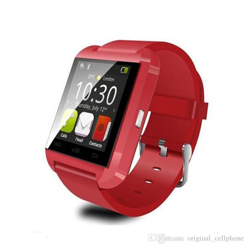U8 Original relógio inteligente Bluetooth eletrônico inteligente Relógio de pulso Suporta Telefone Chamando Passometer inteligente Relógio de pulso Para a Apple IOS Assista Android