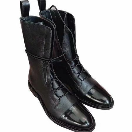 Hot top di lusso personalità Vendita-Fashion stivali romana stilista allacciatura a basso moda tacco stivali 35-40