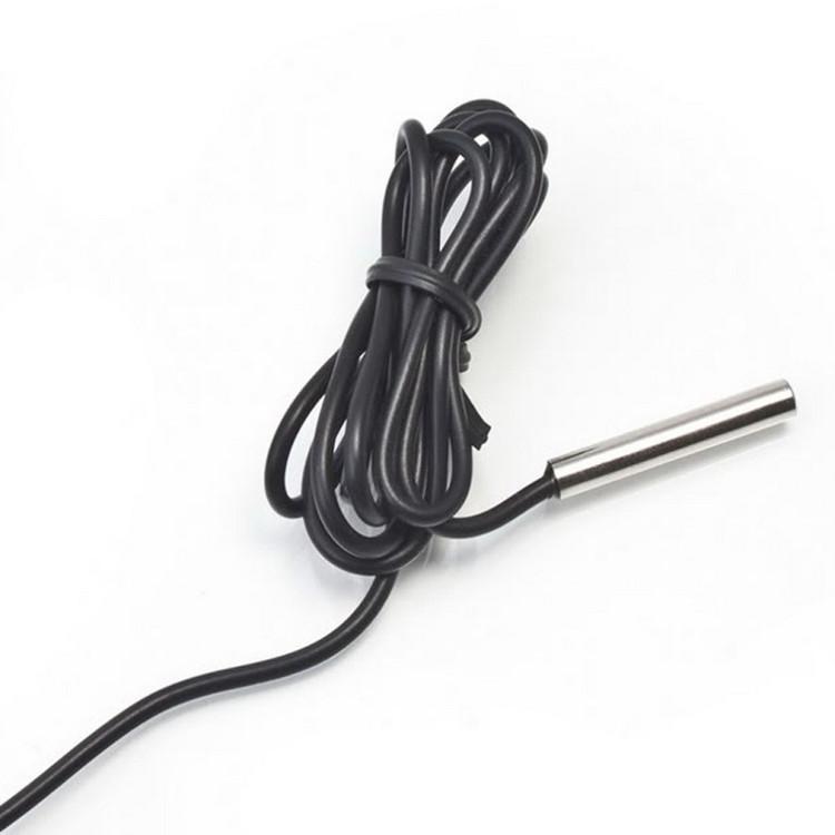 1 PC-Embedded-elektronischer Digital-Thermometer mit 1 M Leitung für Kühlgewächshaus Temperaturmessgerät LXX