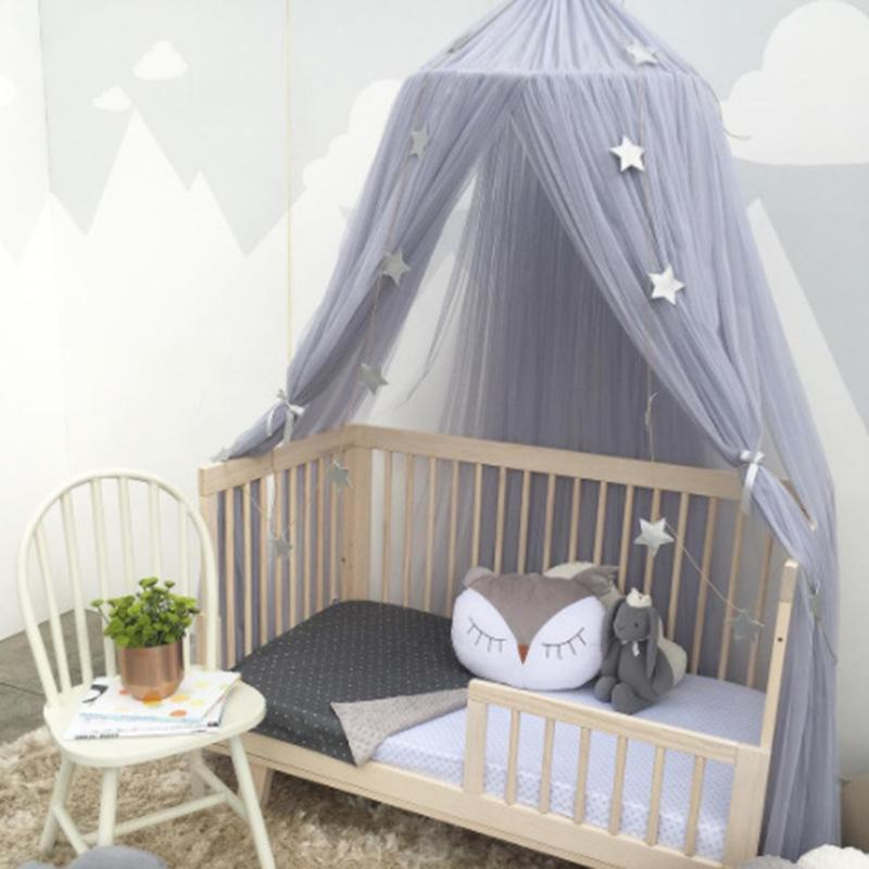 Mosquito Net Bed Curtain Baby Crib Netting Cot Round Hung Dome Kids Canopy Hanging Play Tent Children Room Decor C19041901