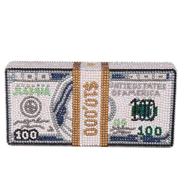 düğün için 2020 yeni kadın el seti elmas yaratıcı dolar çantaları bayan kristal akşam manşonlar cüzdan kızlar banket cüzdan