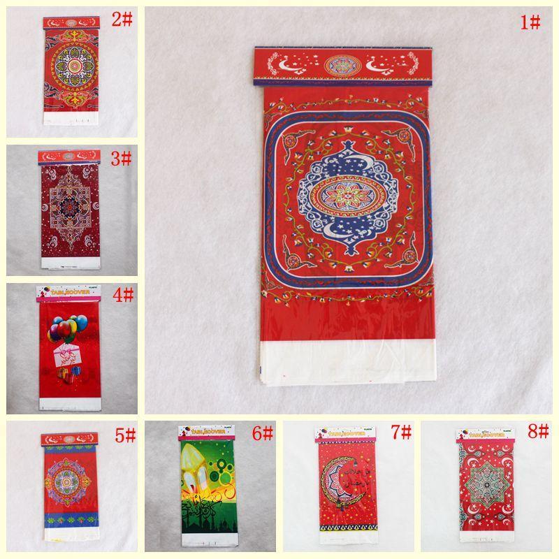 108 * 180cm Tek Plastik Masa Örtüsü Ramazan Bayramı Ramazan Masa Örtüsü Su geçirmez Masa Örtüsü için Müslüman İslamcılık Dekorasyon DBC DH1408