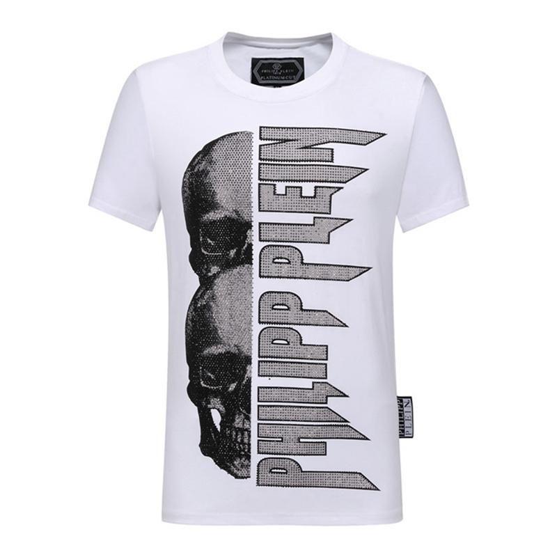 Men Summer new product T Shirt Fashion Short Sleeve t-shirt Clothing Casual Skull Letter print Hip Hop new style Man t-shirt Clothin@1251